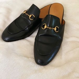 AUTHENTIC Gucci Princetown Black Leather Loafers
